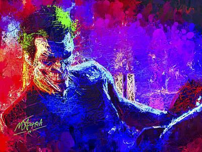 Portrait Mixed Media - Joker's Grin by Matra Art