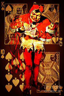 Royal Flush Photograph - Jokers Run Wild In The House Of Royalty 20150707 by Wingsdomain Art and Photography