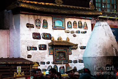 Jokhang Temple Wall Lhasa Tibet Artmif.lv Art Print by Raimond Klavins