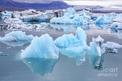 Photograph - Jokulsarlon Glacier Lagoon by Edward Fielding