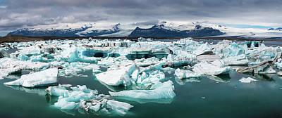 Photograph - Jokulsarlon Glacier Lagoon Iceland Panorama by Matthias Hauser