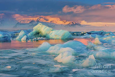Winter Scenery Photograph - Jokulsarlon Glacier Lake, Iceland by Henk Meijer Photography