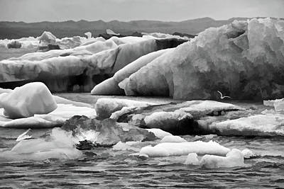 Photograph - Jokulsarlon Lagoon # 2 by Allen Beatty