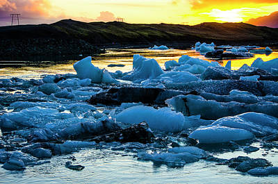 Photograph - Jokulsarlon Sunset 6 by Deborah Smolinske
