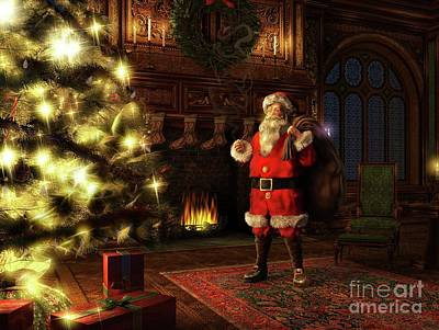 Painting - Jolly Old St. Nicholas by Dave Luebbert