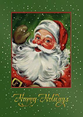 Digital Art - Jolly Old St. Nick  Santa by Denise Beverly
