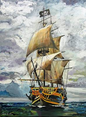 Painting - Jolly Roger by Mike Benton