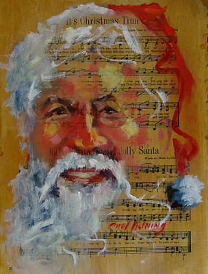 Painting - Jolly Santa by Carol Berning