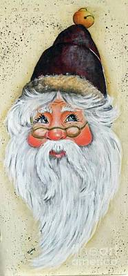 Summer Trends 18 - Jolly Santa Acrylic Painting by Cindy Treger