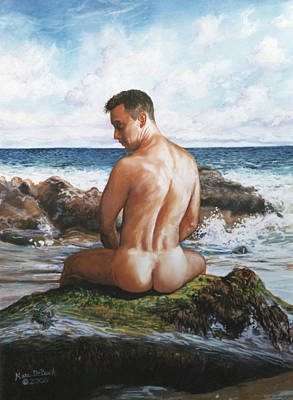 Jon At The Beach  Art Print