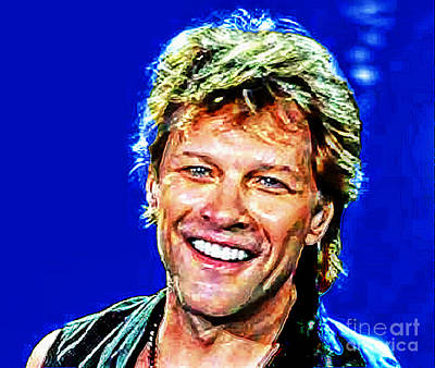 Mixed Media - Jon Bon Jovi by Rod Jellison