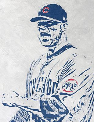 Mixed Media - Jon Lester Chicago Cubs Pixel Art by Joe Hamilton