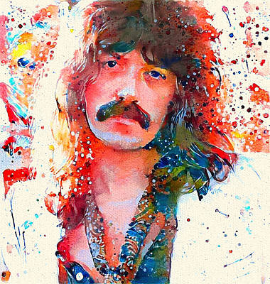 Digital Art - Jon Lord Deep Purple Portrait 4 by Yury Malkov