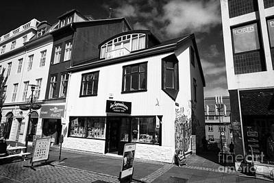 Jon Sigmundsson Laugavegur Main Pedestrian Shopping Street Reykjavik Iceland Print by Joe Fox