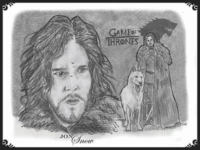 Jon Snow Art Print by Chris  DelVecchio