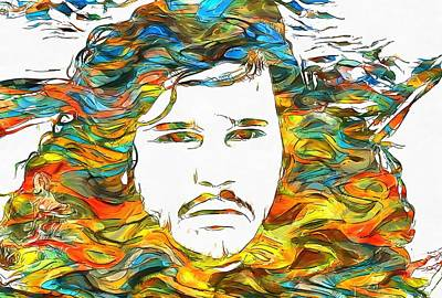 Fire And Ice Painting - Jon Snow Colorful Paint by Dan Sproul