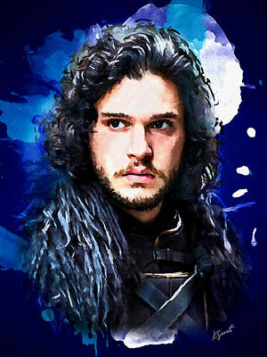 Digital Art - Jon Snow Portrait by Kai Saarto