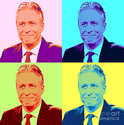Jon Stewart Painting - Jon Stewart Pop Art by Pd