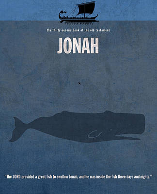 Whale Mixed Media - Jonah Books Of The Bible Series Old Testament Minimal Poster Art Number 32 by Design Turnpike