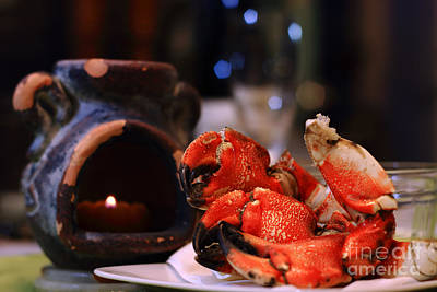 Photograph - Jonah Crab On Plate by Charline Xia