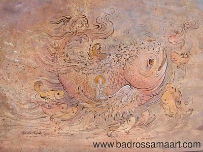 Painting - Jonah Prophet 2 by Reza Badrossama