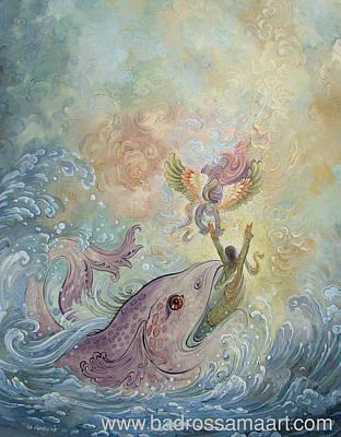 Painting - Jonah Prophet 3 by Reza Badrossama