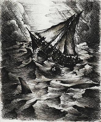 Drawing - Jonah by Rachel Christine Nowicki