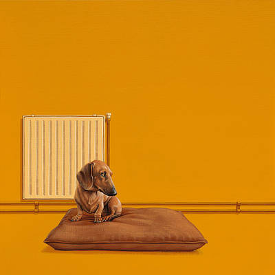 Colorful Dog Painting - Jonas by Jasper Oostland