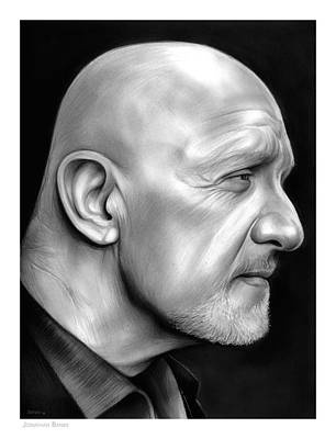 Cops Drawing - Jonathan Banks by Greg Joens