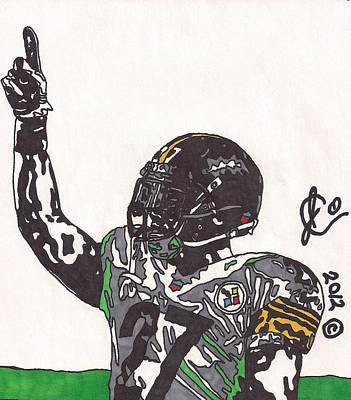 Steelers. Illustration Drawing - Jonathan Dwyer  by Jeremiah Colley