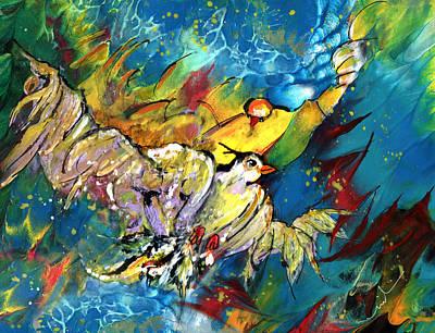 Painting - Jonathan Livingstone Seagull by Miki De Goodaboom
