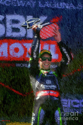 Photograph - Jonathan Rea Breaks Carl Fogarty Record  by Blake Richards