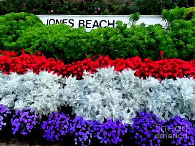 Rowboat Digital Art - Jones Beach Flowers by Ed Weidman