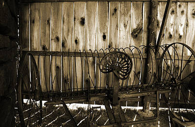 Art Print featuring the photograph Jones Seat Sepia by Joanne Coyle