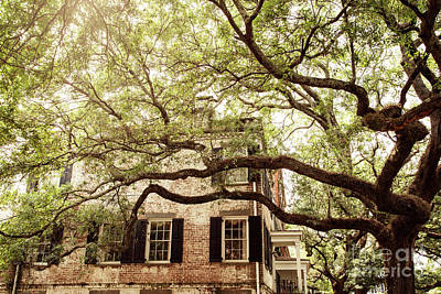 Photograph - Jones Street Brick House by Heather Green
