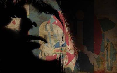 Mixed Media - Joni Mitchell Art  by Paul Lovering