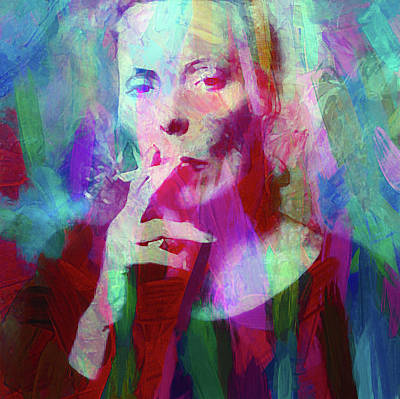 Artist Mixed Media - Joni Mitchell by Mal Bray