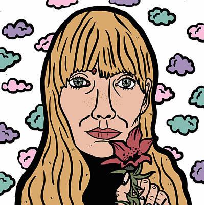 Joni Mitchell Digital Art - Joni Mitchell by Nicole Wilson