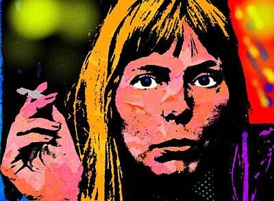 Joni Mitchell Painting - Joni Mitchell by Otis Porritt