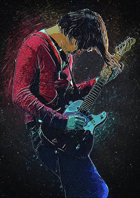 Thom Yorke Digital Art - Jonny Greenwood by Semih Yurdabak