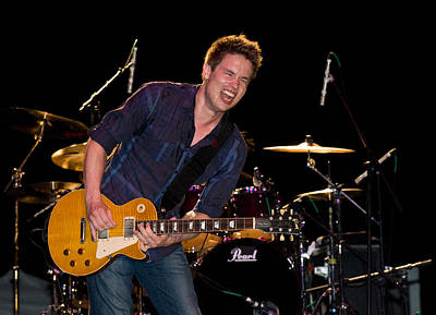 Photograph - Jonny Lang Rocks His 1958 Les Paul Gibson Guitar by Ginger Wakem