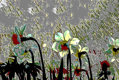 Mixed Media - Jonquils by Charles Shoup