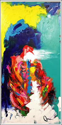 Painting - Joplin Live On Stage by Mac Worthington