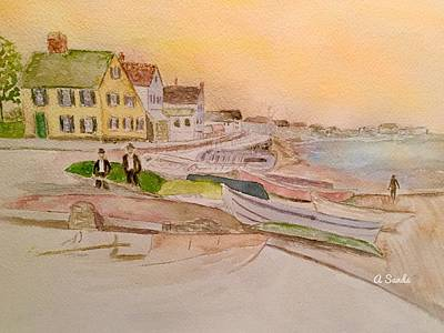 Painting - Joppa Flats Newburyport by Anne Sands
