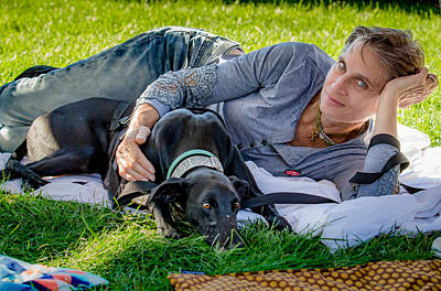 Greyhound Photograph - Jordan And Gail by Travis Patenaude