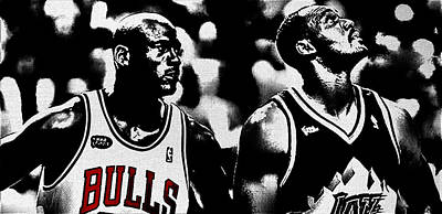 Jordan And Malone 2e Art Print by Brian Reaves