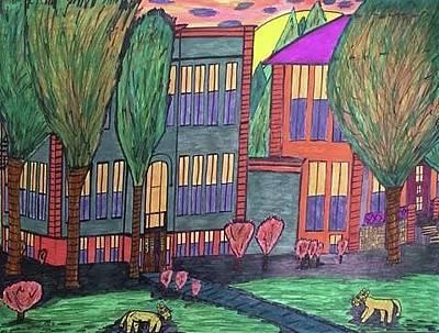 Jordan College West Drive Menominee Original by Jonathon Hansen