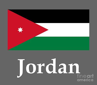 Jordan Flag And Name Original by Frederick Holiday