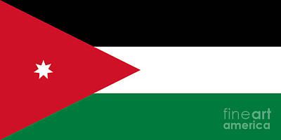 Jordan Flag Original by Frederick Holiday