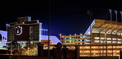 Photograph - Jordan Hare Jumbotron Lights The Night by JC Findley